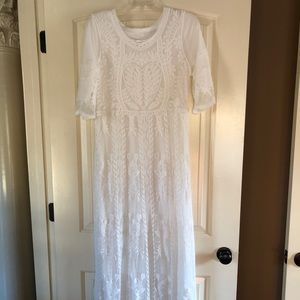 2767290a690a Dresses | Wren Ivory Selena Lace Boutique Dress In Pearl | Poshmark